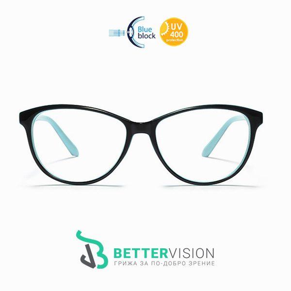 Очила за компютър - Mint - Черно и ментово