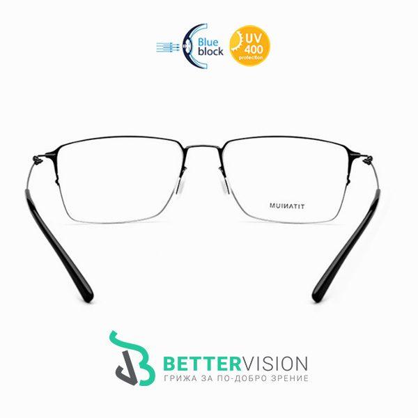 Титаниеви черни очила за компютър