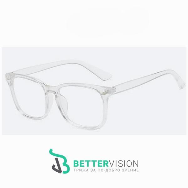 Рамки за очила Ретро - кристално бяло