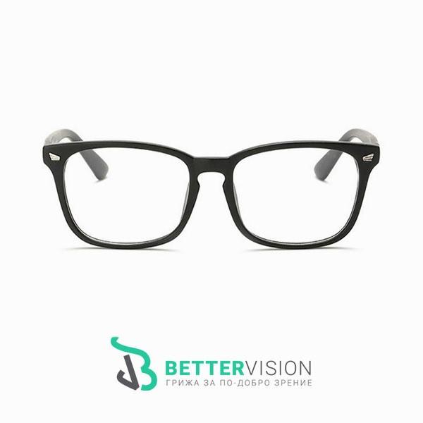 Рамки за очила Ретро - черен гланц