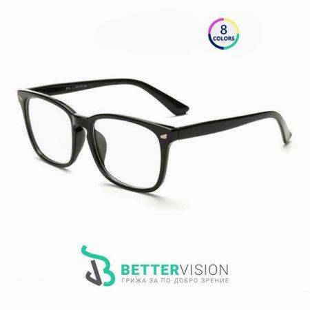 Рамки за очила Ретро - черен мат