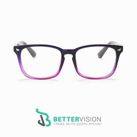 Рамки за очила Ретро - черно и лилаво