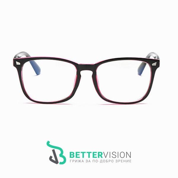 Рамки за очила Ретро - черно и розово