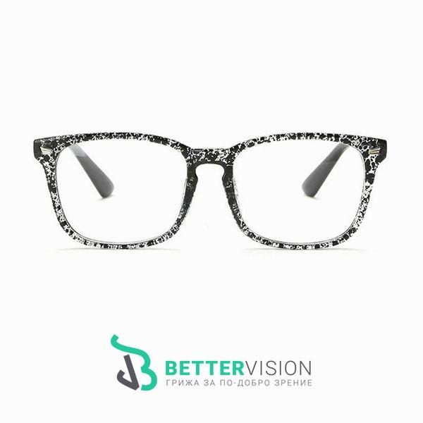 Рамки за очила Ретро - черен флорал
