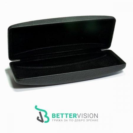 Луксозен черен твърд калъф за очила
