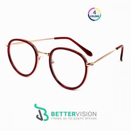 Кръгли Рамки за очила - Blair - червено